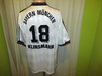 FC Bayern München Adidas UEFA- CUP Sieger Trikot 1996 + Nr.18 Klinsmann Gr.L