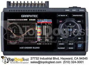 Graphtec GL240 midi Logger Compact Standalone 10-Channel Datalogger New