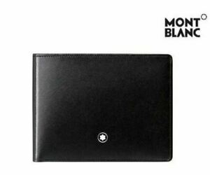 [MONT BLANC] 14548 Men's Meisterstück Leather Wallet 6cc Black