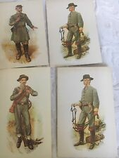4 Civil War, Uniform of Confederate Infantryman, Wm L. Sheppard- Postcards Plus