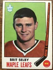 1969/70 Topps Hockey Card #48 Brit Selby Toronto Maple Leafs EX/MT