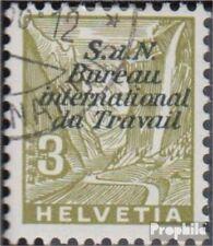 Suisse ILO38 (complète edition) oblitéré 1936 organisation du travail