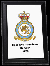 Personalised Wall Plaque - Royal Air Force Police crest current style, RAF