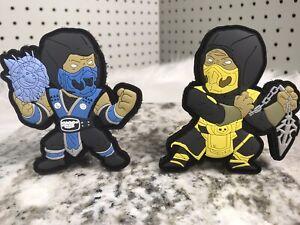 Scorpion & Sub-Zero Mortal Kombat PVC Morale Patch Hook N Loop Tactical Set New