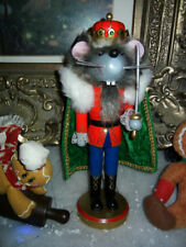 CLASSIC NUTCRACKER SUITE  WOOD * MOUSE KING with SWORD * CHRISTMAS