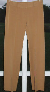 BCBG MAX AZRIA BROWN PANTS DRESS POLYESTER STRETCH SLIMMING LOW 8 33 NEW $275