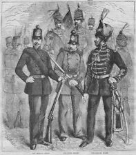 CRIMEAN WAR Uniforms of the Foreign Legions - Antique Print 1855