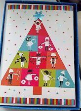 Hallmark UNICEF Christmas Box Greeting Cards Universal Tree w Children Customs