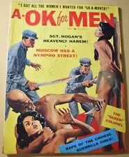 'A-OK for Men' April 1963 Men's Pulp Magazine *LOOK*