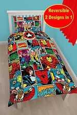 Marvel Comics Strike Single Duvet Cover Set Reversible 2 in 1
