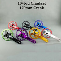 104BCD MTB Bike Crankset 170mm Crank Left&Right Arm Chainset Bicycle Chainring