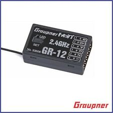 BRAND NEW GRAUPNER GR12 GR-12 6 CHANNEL 2.4GHZ HoTT RC RECEIVER RX 33506 !!