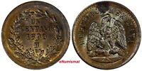 """Mexico SECOND REPUBLIC Copper 1890 closed """"8"""" Mo Centavo UNC KM# 391.6"""