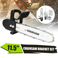 """11.5"""" Electric Chainsaw Stand Adaptor Bracket Woodworking Cutting Polishing Tool"""