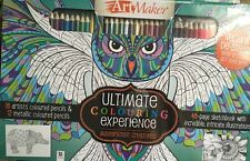 Art Maker - Ultimate Colouring Experience - Adult Colouring Book With Pencil.