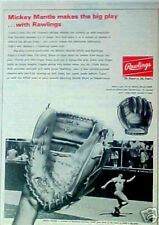 1967 Rawlings Mickey Mantle MLB New York Yankees Baseball Glove XPG6 Trade AD