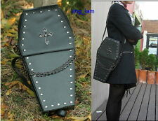 gothic Punk visual Rock coffin shape handbag / backpack