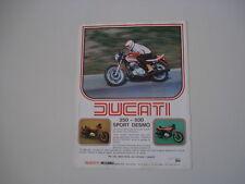 advertising Pubblicità 1977 DUCATI 350-500 SPORT DESMO