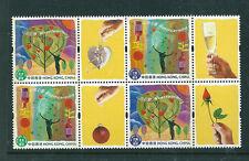 Hong Kong 2003 Greeting stamps block of 4 unmounted mint.