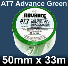 """AT7 Advance Electrical Insulation Tape Green 50mm x 33m PVC 2"""" inch x 36 yards"""