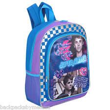 Justin BIEBER Fever Peace Signs & HEARTS Backpack NeW Book Bag + 1 SCHOOL FOLDER