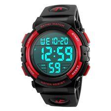 Mens Led Digital 5ATM Waterproof Wristwatch Alarm Date Shock Wrist Watches
