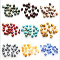 Natural Jade Gemstone Round Loose Spacer Beads 4/6/8/10mm Jewelry Making DIY