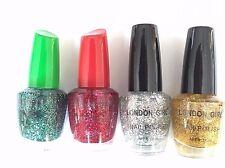 London Girl Glittery 1 Nail Polish 18ml  (Dark Green, Red, Silver, Gold)