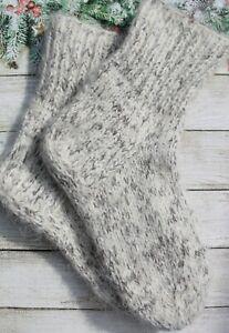 MEN's SOCKS Hand Knitted 100% natural SHEEP WOOL traditional Russian SOCKS