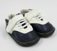 Jack and Lily Toddler Boys Navy White Leather Saddle Shoes Size 12-18 Months