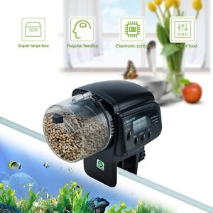 Automatic Aquarium Fish Feeder Tank Pond Food Feeder Auto Feeding with LCD