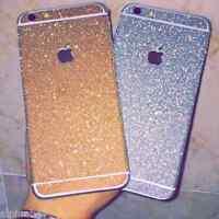 Full Body Wrap Bling Decal Vinyl Glitter Sticker Skin Cover For All Apple iPhone