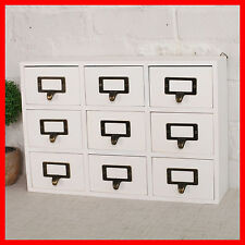 French Provincial Timber Pigeon Hole Mounted Chest of 9 Drawers Storage A25W