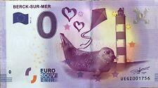 BILLET 0 ZERO EURO SOUVENIR  TOURISTIQUE BERCK SUR MER 2017