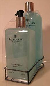 PECKSNIFF'S SANDALWOOD & VANILLA HAND WASH 16.9 oz soap & 33.8oz refill