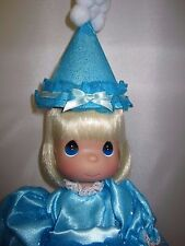 """Precious Moments Birthday Blessings Blue Dress Party Hat 13"""" Doll New"""