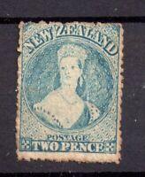 New Zealand 1864-67 2d blue SG113 mint no gum WS20214