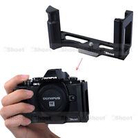Vertical Quick Release Plate Camera Bracket Grip f Tripod Ballhead Olympus E-M10