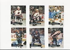 91/92 Pro Set Autographed Hockey Card Barry Pederson Boston Bruins