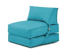 Turquoise Bean Bag Z Bed Lounger Outdoor Waterproof Garden Children's Kids Chair
