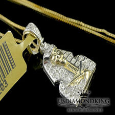 Real Genuine 100% 10k Yellow Gold .18ct Diamond Pharaoh Charm Necklace Chain New