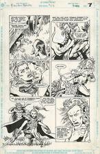 Forgotten Realms 23 ORIGINAL ART PAGE 7 Chaz Truog 1991 Fantasy Battle B&W DC
