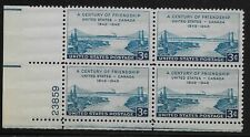 US Scott #961, Plate Block #23859 1948 Canada 3c FVF MNH Lower Left
