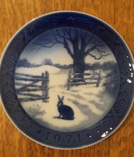 Royal Copenhagen 1971 Christmas Plate (Hare in Winter) Annual Collectible