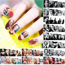 12 sheets water transfer nail art decoration sticker decal Marilyn Monroe Design