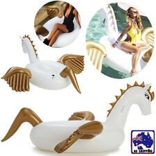 190cm Giant Pegasus Ride on Inflatable Float Swimming Pool Wing Horse WDIT57599