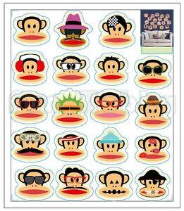 Glow Sticker Big Mouth Monkey Glow In The Dark Sticker Cute Carton Monkey