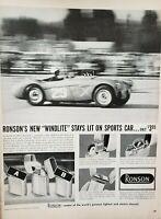 Lot 3 Vintage 1956 Ronson Lighter Advertisements