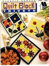 Annies Attic Plastic Canvas Pattern Book QUILT BLOCK TRIVETS Mary Layfield 87Q75