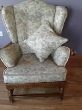 Ercol Old Colonial Armchair with Footstool